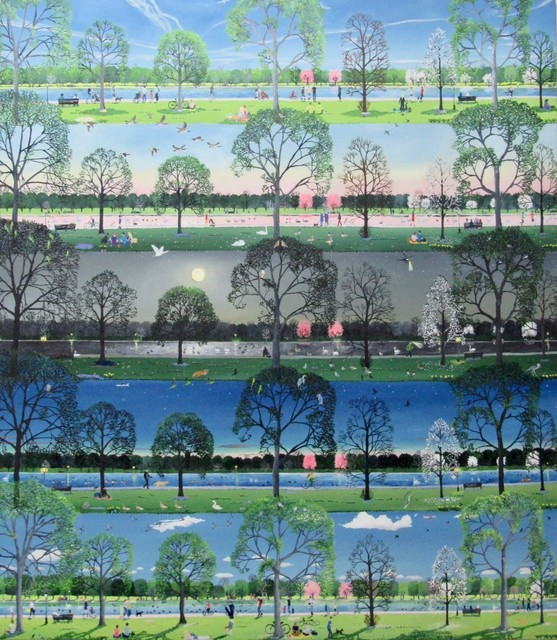 Emma Haworth, 'From one day to another (Spring Park)', 2019, Rebecca Hossack Art Gallery