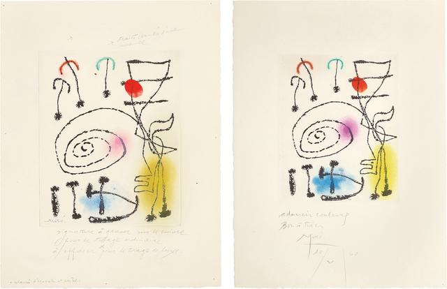 Joan Miró, 'La mesure du temps (The Measure of Time): two impressions', 1960, Phillips