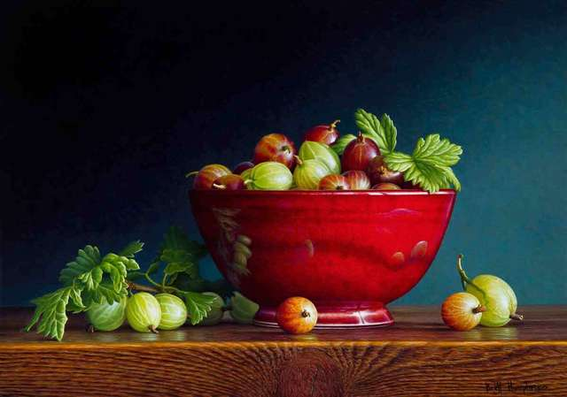 , 'Bowl of Gooseberries,' 2018, Catto Gallery