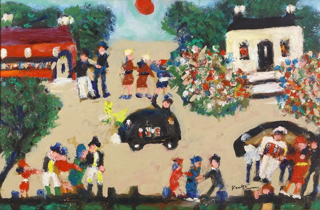 Greta Bowen, 'Town Scene with cars', Chiswick Auctions