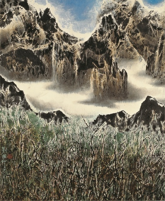 Liu Kuo-Sung, 'Cloud-girdled Mountains 白雲鎖山腰', 2007, Galerie du Monde