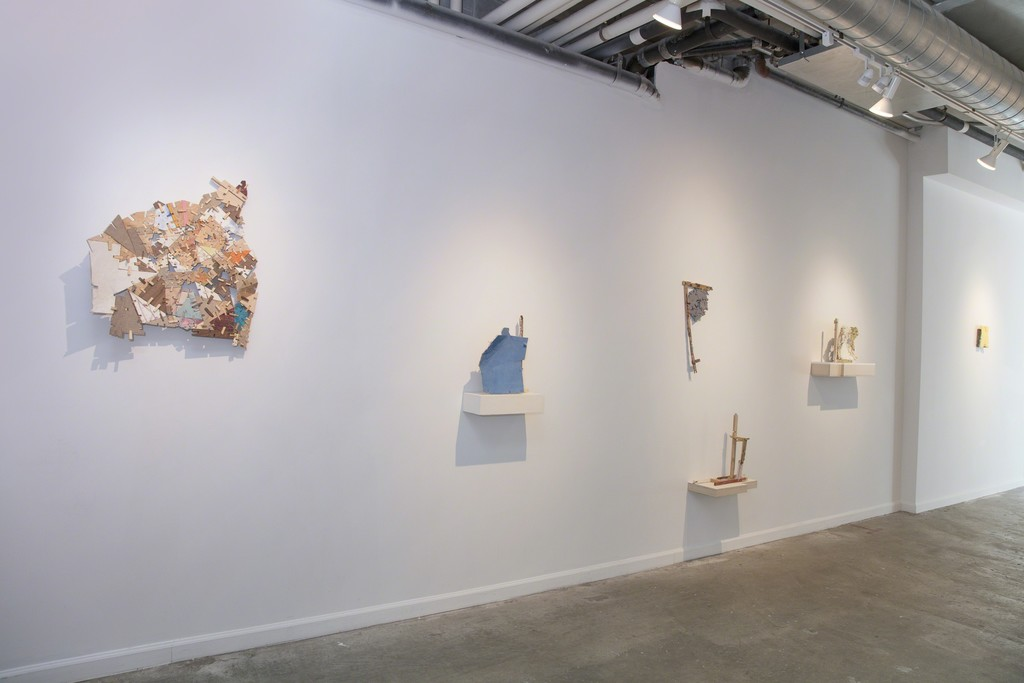 """Helen O'Leary: """"Home is a Foreign country"""" (installation view, Lesley Heller Gallery, NY), 2018"""