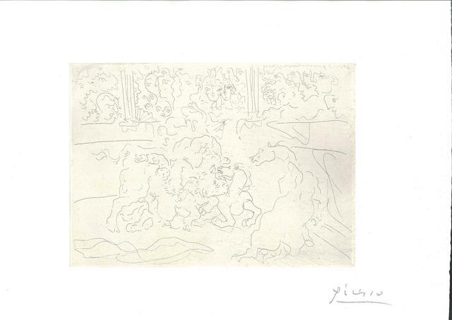 Pablo Picasso, 'Taureau et Chevaux dans l'Arène ', 1933, Wallector