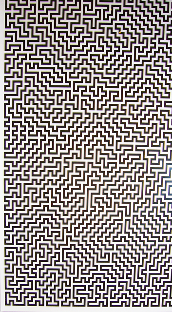 Ignacio Uriarte, 'Single-Line Labyrinths 1', 2007, Drawing, Collage or other Work on Paper, Inkjet prints on Excel sheet, Collectors Contemporary