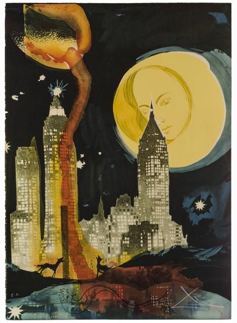 Salvador Dalí, 'Manhattan Skyline', 1976, Print, Color lithograph on Arches paper under Plexiglas, John Moran Auctioneers