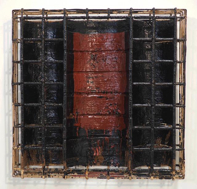 , 'Red oxide on black No. 1,' 2017, Tyler Rollins Fine Art