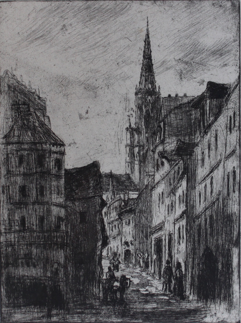 , 'La Rue Malpalue à Rouen,' 1883-1884, Russell Collection