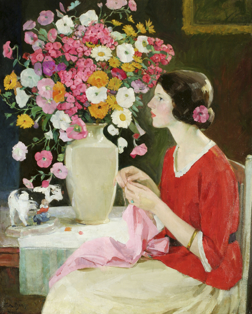 , 'Young Lady Crocheting (Expectancy),' ca. 1911, Guarisco Gallery