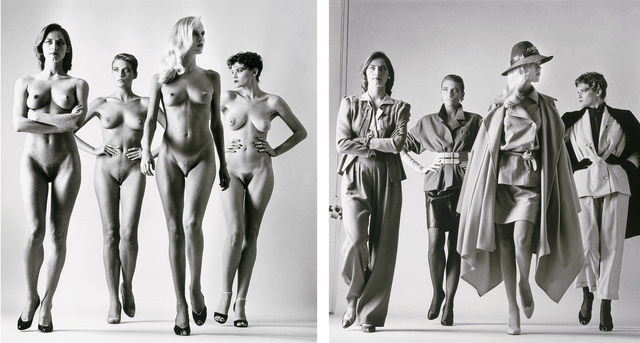 Helmut Newton, 'Sie Kommen (Dressed and Undressed) signed', 1981, Photography, Silver Gelatin Print, Provocateur Gallery