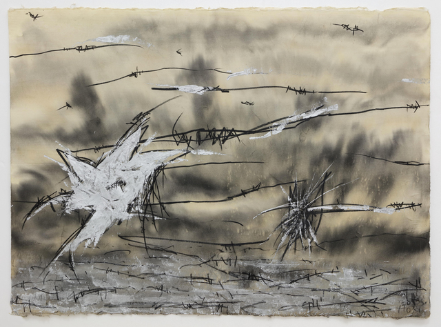 Hori Kosai, 'Touching so close and having an openness-Galaxy creaked', 2020, Drawing, Collage or other Work on Paper, Japanese ink, dermatograph, acrylic, Japanese paper, Mizuma Art Gallery