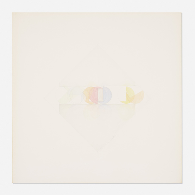 Fletcher Benton, 'Incline Series', c. 1975, Drawing, Collage or other Work on Paper, Watercolor on paper, Rago/Wright
