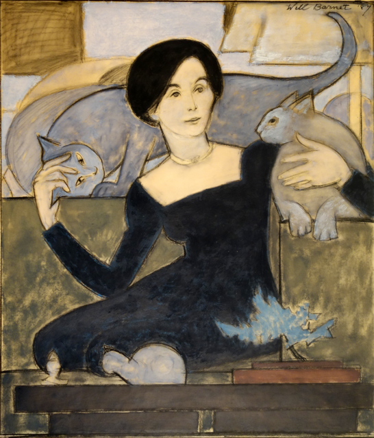 Will Barnet, 'Martha and Two Cats', 1984, Bill Hodges Gallery
