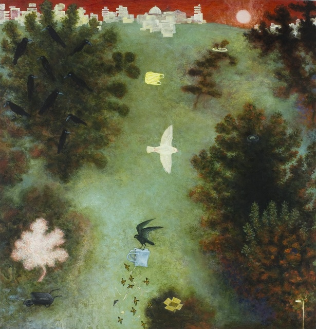 Alasdair Wallace, 'White Sparrow', 2013, Rebecca Hossack Art Gallery