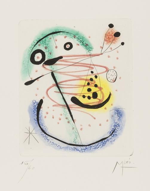 Joan Miró, 'La Bague D'Aurore (Dupin 139)', Forum Auctions