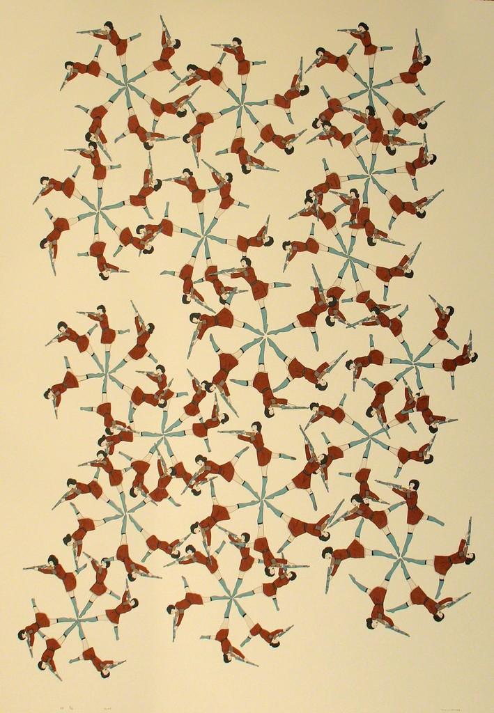 Marcel Dzama, 'Snowflake Defense,' 2007, ClampArt