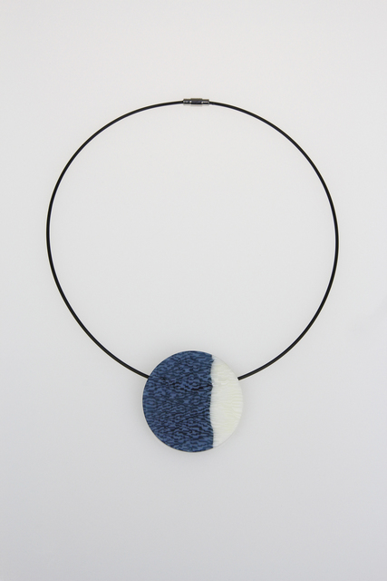 , 'Grey, Blue, and White Circle Pendant,' , Bullseye Projects