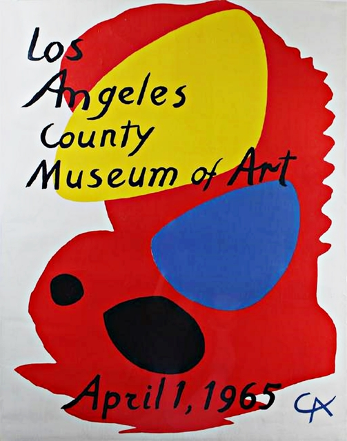 Alexander Calder, 'Los Angeles County Museum of Art (LACMA) Rare Lithographic Poster', 1965, Alpha 137 Gallery