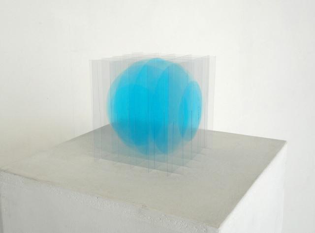 , 'blue sphère,' 2017, Galerie Marie-Robin