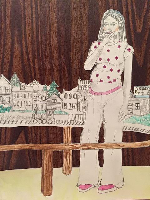 , 'pregnant & smoking,' 2016, Yulia Topchiy