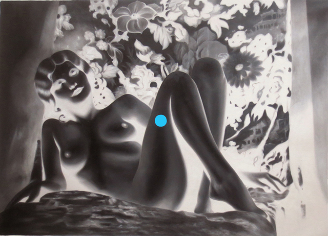 Tim Sullivan, 'White Shadow (Nude Harlow with Blue Dot)', 2014, Collectors Contemporary