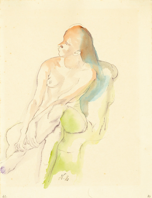 , 'Sitzender Weiblicher Akt (Seated Female Nude) ,' 1916, Galerie Herold