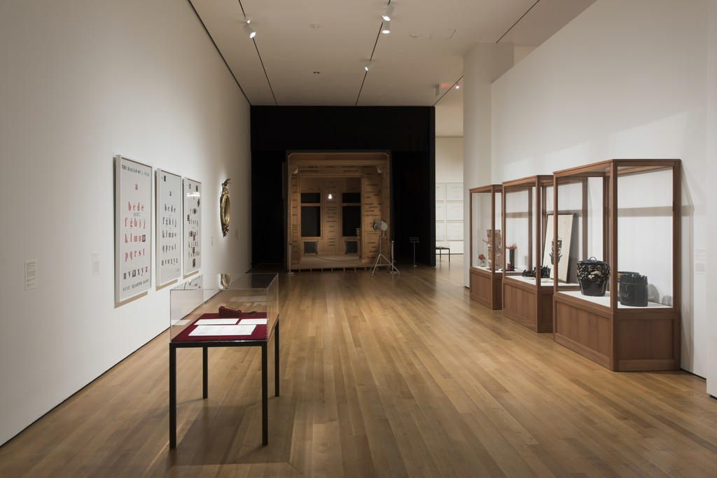 Installation view of Marcel Broodthaers: A Retrospective. The Museum of Modern Art, New York, February 14–May 15, 2016. © 2016 The Museum of Modern Art. Photo: Martin Seck