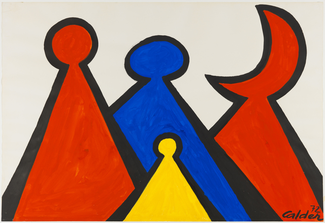 , 'The Red Crescent,' 1972, Omer Tiroche Gallery