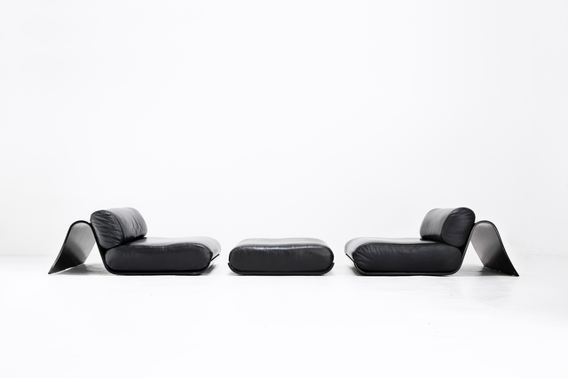 , 'Pair of a low easy chairs and ottoman,' 1978, Side Gallery