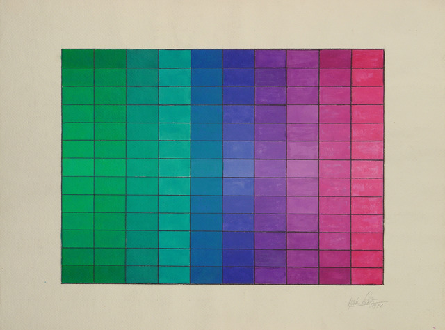 Alejandro Puente, 'Tramando colores y luces', 1972, Drawing, Collage or other Work on Paper, Acrylic on paper, Henrique Faria Fine Art
