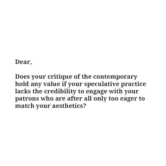 , 'Critique Template,' , Sabrina Amrani