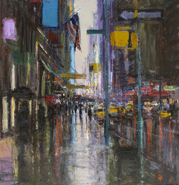 , 'Seventh Avenue from Carnegie Hall, Rain,' 2015, John Martin Gallery
