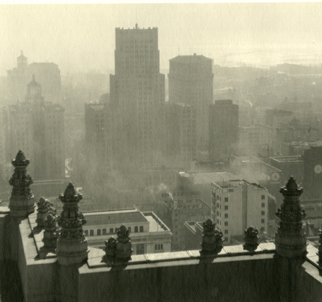 , 'San Francisco Skyline from Fairmont Hotel,' 1920's, Be-hold