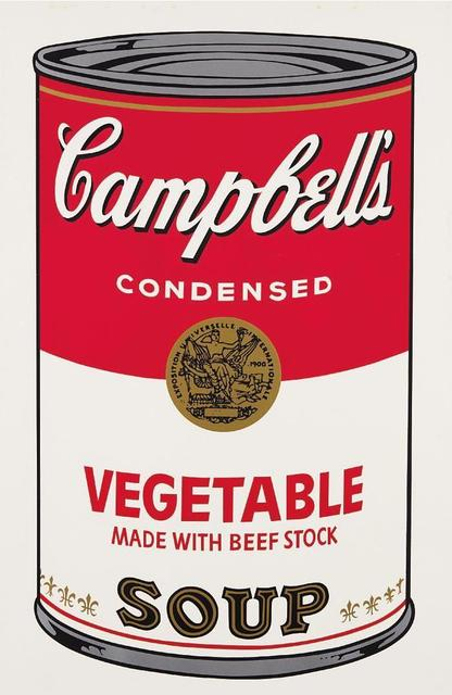 Andy Warhol, 'Vegetable made with beef stock Campbell's Soup', 1968, OSME Fine Art