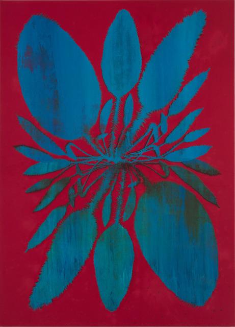 , 'Double Acrosticum (Deep Magenta),' 2014, Luhring Augustine
