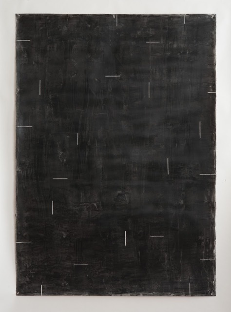 , 'Untitled Black with White Lines,' 2011, Barry Whistler Gallery
