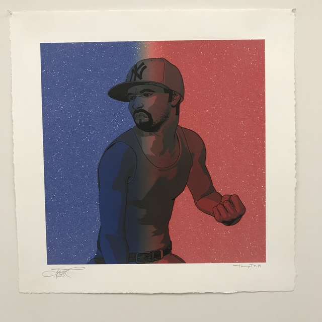 """Tommy The Animator, 'The Foundation """"Red & Blue Diamond Dust""""', 2019, New Union Gallery"""