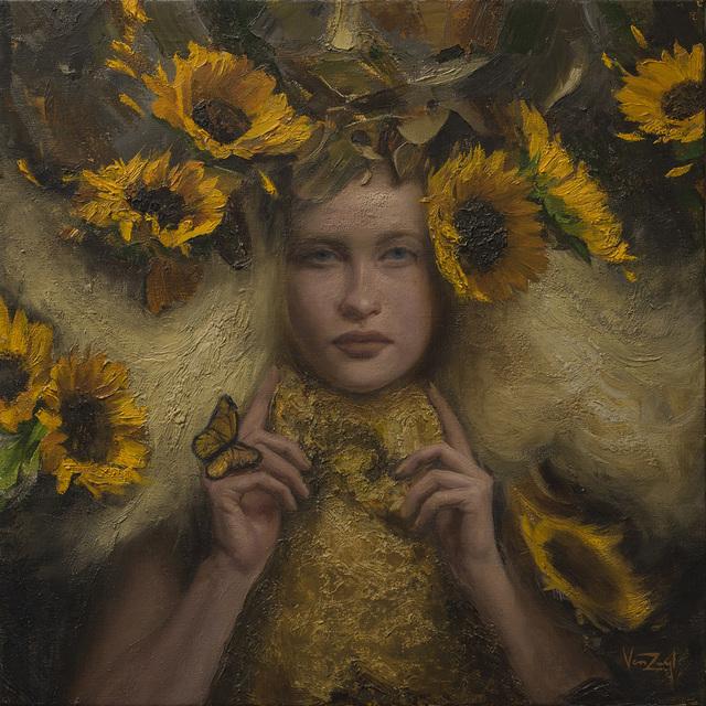 Michael Van Zeyl, 'Clytie', 2017, Painting, Oil, Abend Gallery