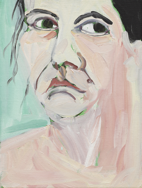 Chantal Joffe, 'Self-Portrait I, October', 2018, Victoria Miro