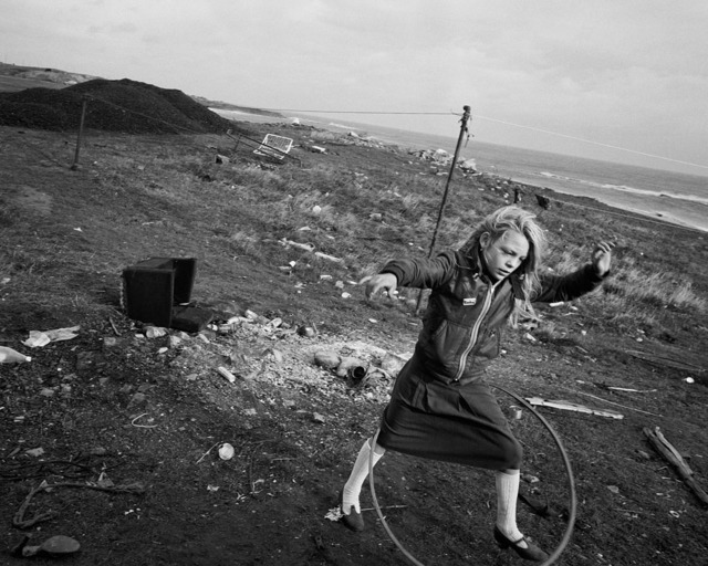, 'Helen and her hoola-hoop, Seacoal Beach, Lynemouth,' 1984, Augusta Edwards Fine Art