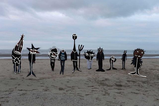 , 'Untitled (monsters on the beach),' 2012, Nicola von Senger