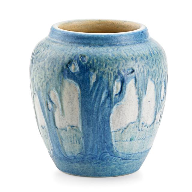 Anna Frances Simpson, 'Newcomb College, Small Scenic Vase With Live Oaks And Spanish Moss, New Orleans, LA', 1922, Design/Decorative Art, Rago/Wright