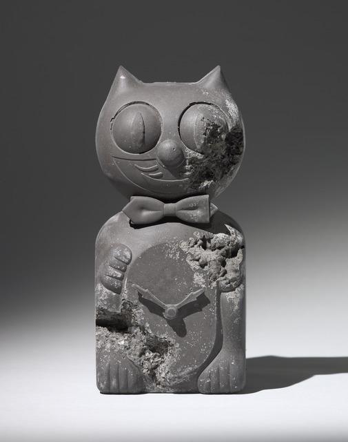 Daniel Arsham, 'Ash Eroded Cat Clock', 2013, Pippy Houldsworth Gallery