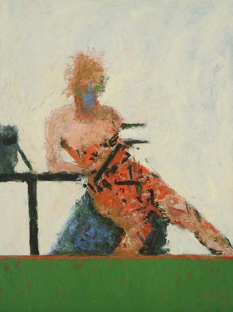 John Goodman, 'Reading Figure No. 1 / figurative abstract expressionism', 2012, Andra Norris Gallery