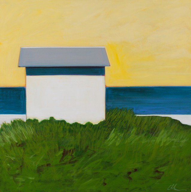 , 'White Cottage With Yellow Sky,' 2017, Caldwell Snyder Gallery