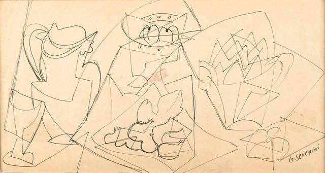 Gino Severini, 'Studio preparatorio per Figues sur papier rose', 1948, Finarte