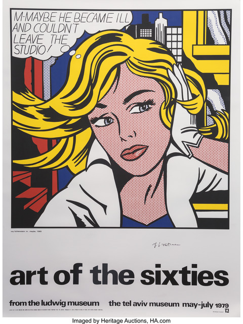 Roy Lichtenstein, 'Art of the Sixties, exhibition poster', 1979, Heritage Auctions