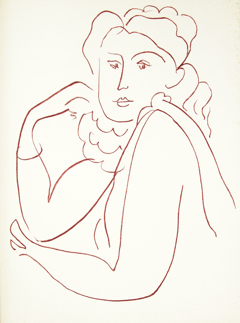 Henri Matisse, 'Florilège des Amours', Paris: Albert Skira-1948., Drawing, Collage or other Work on Paper, Printed book with original drawing, Ursus Books & Prints