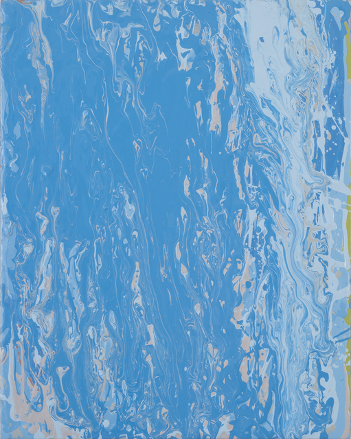 , 'bluepalebluebeige pour,' 2013, Heather Gaudio Fine Art