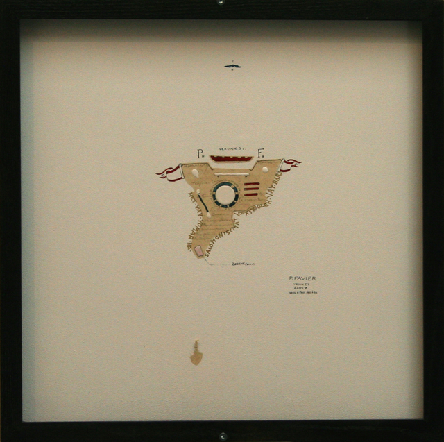 Philippe Favier, 'Vous n'êtes pas d'ici (4)', 2007, Painting, Ink on wood, paint on glass and watercolor, Wilde