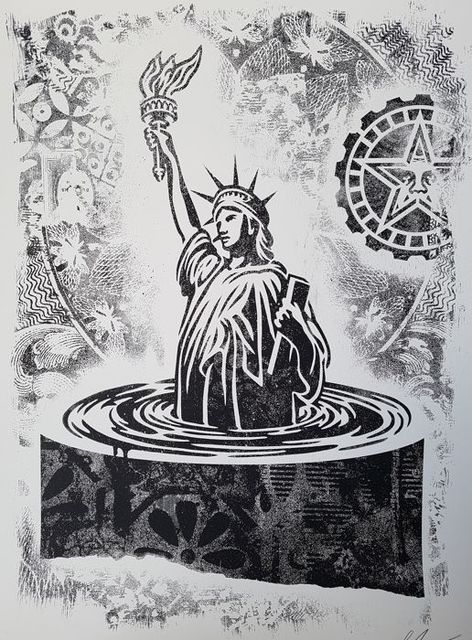 Shepard Fairey (OBEY), 'Sinking Liberty (Stencil Series )', 2017, Dope! Gallery